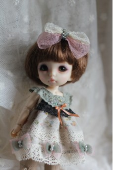 Green Lace Dress for Pukifee or Lati Yellow