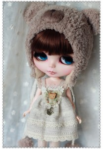 Bear Dress Set For Blythe
