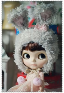 Bunny hat (Gray)For Blythe