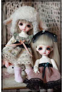 Miss Sheep Dress Set (4 items) for Pukifee or Lati Yellow