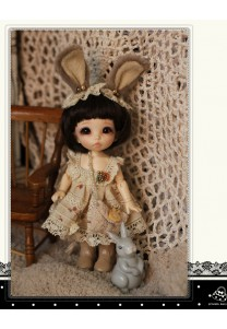 Bunny Dress Set for Lati yellow or Pukifee